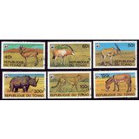 6 марок 1979 год Чад Фауна
