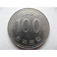 Южная Корея 100 вон 2001 г.