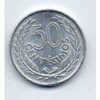 ВОСТОЧНАЯ  РЕСПУБЛИКА УРУГВАЙ  50 СЕНТЕСИМО 1965
