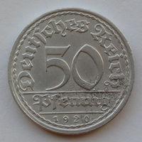 Германия - Веймарская республика 50 пфеннигов. 1920. A