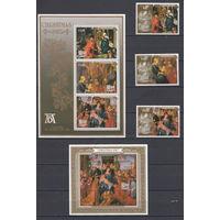 Религиозная живопись. Ниуе. 1987. 3 марки и 2 блока (полный комплект). Michel N 719-721, бл111-112 (34,0 е)