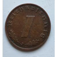 """Германия - Третий рейх 1 рейхспфенниг, 1938 """"J"""" - Гамбург 4-10-15"""