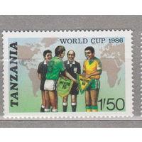 Спорт Чемпионат мира по футболу 1986 года - Мексика 1986 Танзания 1986 год лот 1062 ЧИСТАЯ