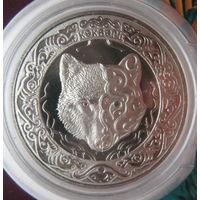 Казахстан 100 тенге 2018 г. Небесный волк