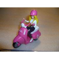 "Барби на мотоцикле. Мотороллер-шкатулка для мелких предметов""Barbie"".MATTEL."
