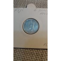 Фиджи 6 пенсов 1943