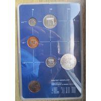 Нидерланды годовой сет монет 1982 в банковской пластиковой упаковке - UNC