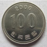 Южная Корея 100 вон 2000 в блеске