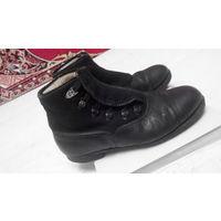 Ботинки антикварные довоенные зимние кожа фетр