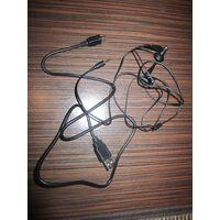 Наушники и USB переходник от какого-то навигатора