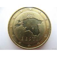 Эстония 50 евроцентов 2011г.
