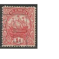 "Бермуды. Парусник ""Sea Venture"". 1912г. Mi#36а."