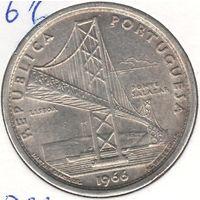 Португалия 20 эскудо 1966 года. Открытие моста Антониу Салазара. Серебро 10 грамм 650 проба. Состояние UNC!