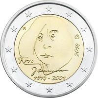2 евро 2014 Финляндия 100 лет со дня рождения Туве Янссон UNC из ролла