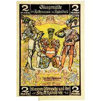 РАСПРОДАЖА!!! - ГЕРМАНИЯ РАДОЛЬФЦЕЛЛЬ-на-БОДЕНЗЕЕ (БАДЕН-ВЮРТЕМБЕРГ) 2 марки 1921 год - UNC!