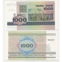 Беларусь 1000 рублей образца 1998 года UNC p16 серия КГ