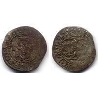 Шеляг 1591 IF, Сигизмунд III Ваза, Олькуш. Вариант с датой на Ав, R