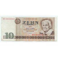 Германия (ГДР), 10 марок 1971 год.
