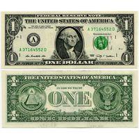 США. 1 доллар (образца 2009 года, A, Массачусетс, P529, UNC)