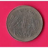 40-07 Индия, 1 рупия 2001 г.