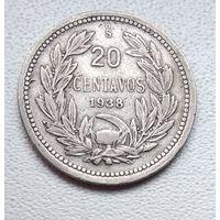 Чили 20 сентаво, 1938 6-2-21