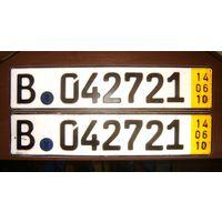 Автомобильные номера No2 Германия