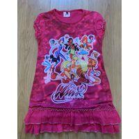 Летнее платье-туника Winx на рост 134