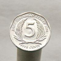 Восточно-Карибские Штаты 5 центов 2004
