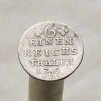 Пруссия 1/6 часть талера 176?  Фридрих II Великий м.д. Бреслау