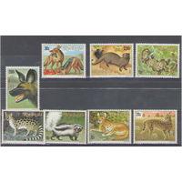 Руанда Звери 1981 год чистая полная серия из 8-ми марок