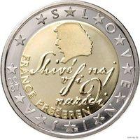 2 евро 2007 Словения UNC из ролла