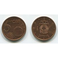 Латвия. 5 евроцентов (2014)