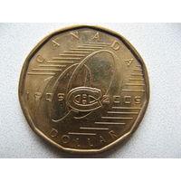 Канада 1 доллар 2009 г. 100 лет хоккейному клубу Монреаль Канадиенс (юбилейная)