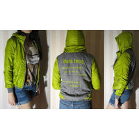 Куртка женская (или на подростка) с капюшоном (новая), стильная (размеры S и XS)