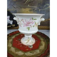 Красивая большая ваза Урна Фарфор Клеймо Цветочная Роспись