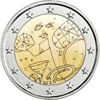 2 евро 2020 г. Мальта  Игры детей. UNC из ролла