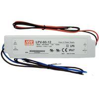 LPV-60-12, AC/DC LED, 12В,5А,60Вт,IP67 блок питания для светодиодного освещения