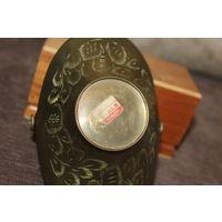 Небольшая, латунная конфетница, Индия, времён СССР, высота с ручкой 13 см.