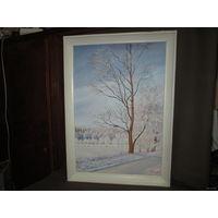 Картина зимний пейзаж Н/Х,холст,масло.