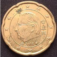 Бельгия 20 евроцентов 2008