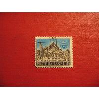 Марка 100-лет Итальянского альпийского клуба 1963 год Италия