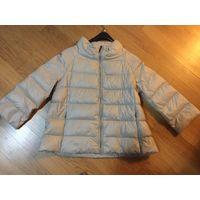 Куртка-пуховик Zara. р. S светло-серая