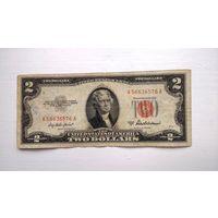 США 2 $ красная печать 1953A
