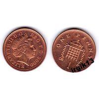 1 пенни 2000 года. Великобритания