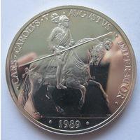 Испания 5 ЭКЮ 1989 Карл V - серебро 0,925