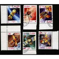 Куба 1983. День космонавтики. Полная серия, гаш.