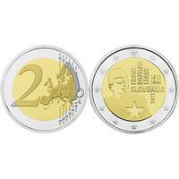 2 евро Словения 2011 100 лет со дня рождения Франца Розмана - Стане UNC из ролла