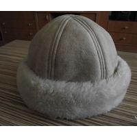 Зимняя шапка, иск. дубленка