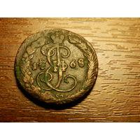 Монета-деньга 1768г.ем.