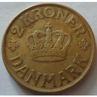 Дания 2 кроны 1926 года. Буквы HCN GJ